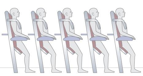 """Asientos que se """"inventó"""" Ryanair en su campaña de llevar a la gente de pie en sus aviones ¿Os recuerda a algo?"""
