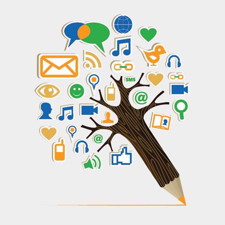 Lápiz y redes sociales