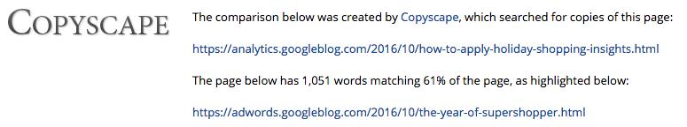 copyscape google
