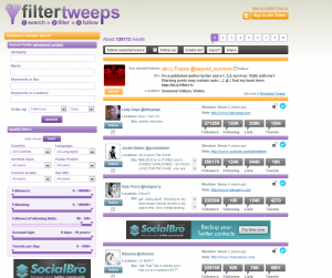 Social Media Tools: FilterTweeps