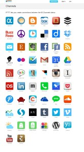 Social Media Tools: ifttt channels