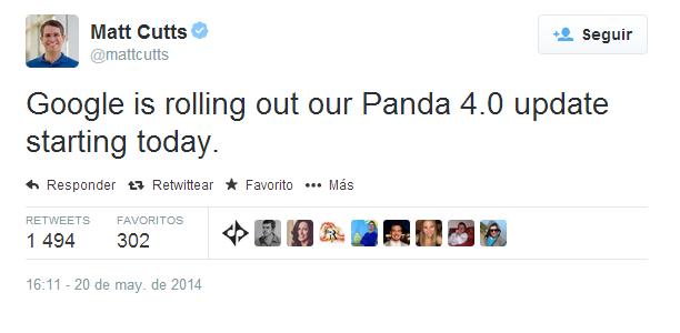 matt cutts anuncia el lanzamiento de google panda 40