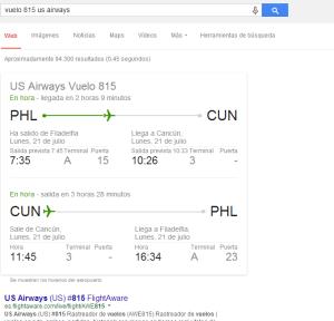vuelo 815 us airways   Buscar con Google