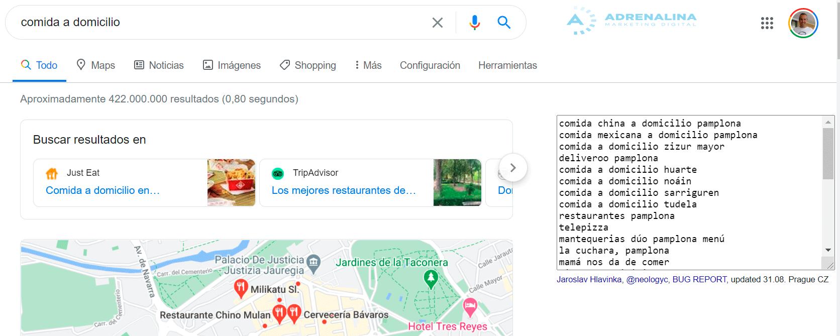 extension busquedas relacionadas