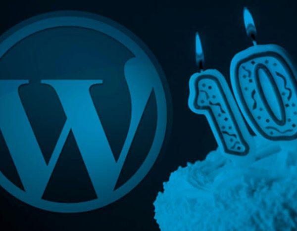 10 aniversario wordpress