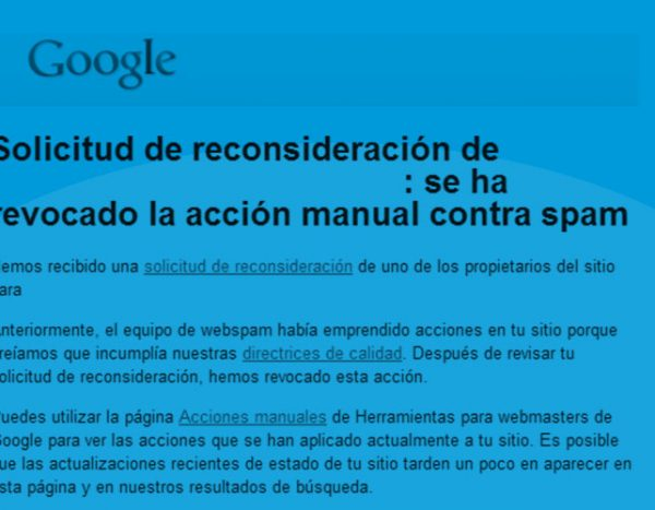 penalizacion manual de google