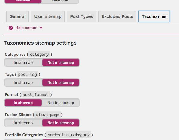 Configurar Yoast Sitemap