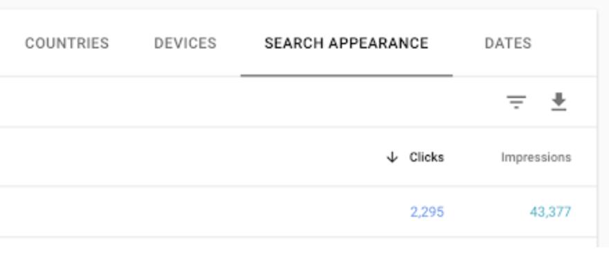 Nuevo reporte de datos estructurados en Search Console