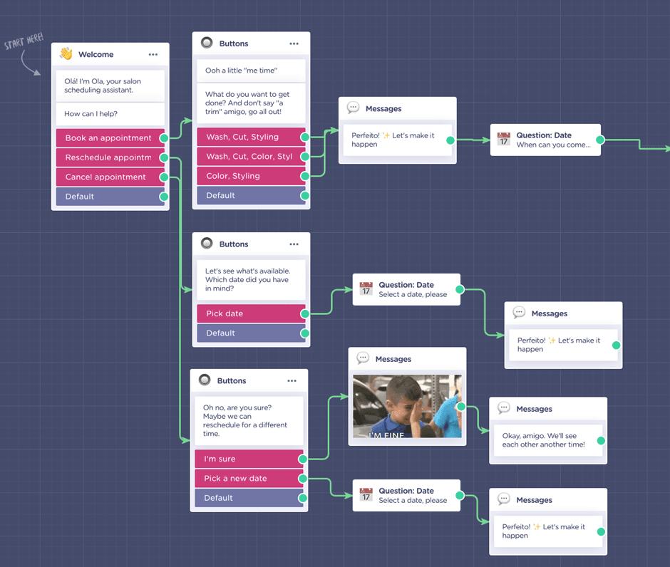 aplicacion construir chatbot