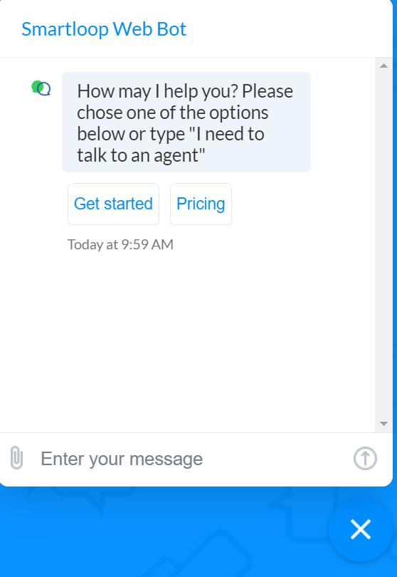 chatbot smartloop conversacion