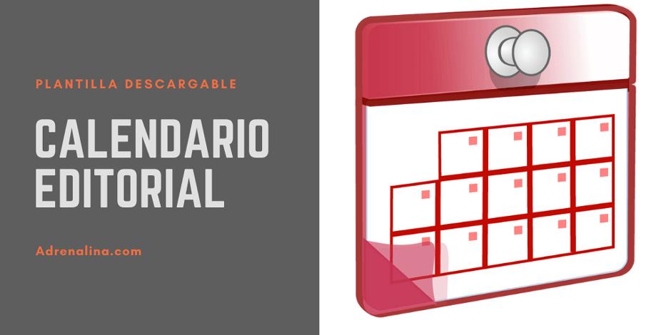 calendario editorial plantilla