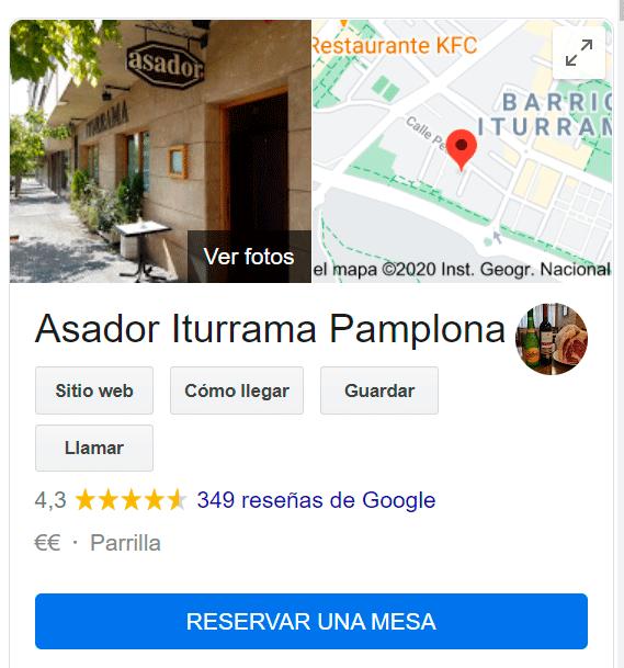 reservar google business