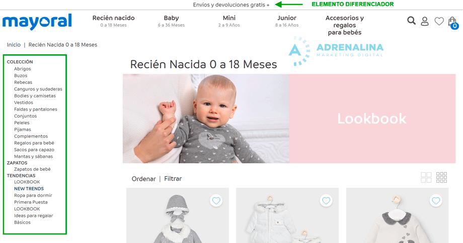 CATEGORIAS tienda online