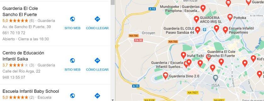 competencia guarderias google