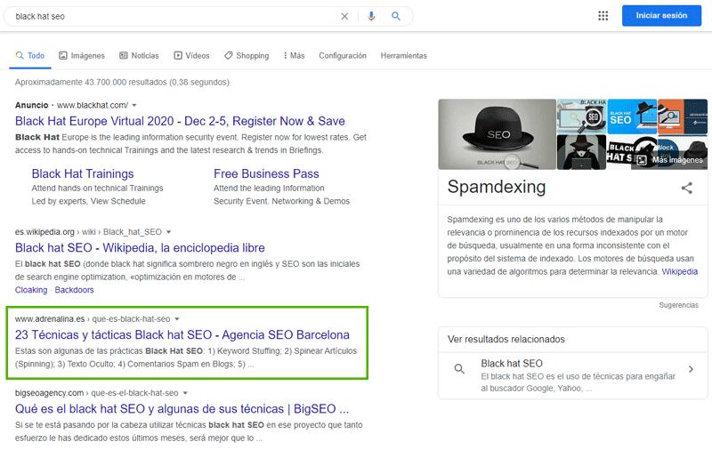 posicionamiento seo en google