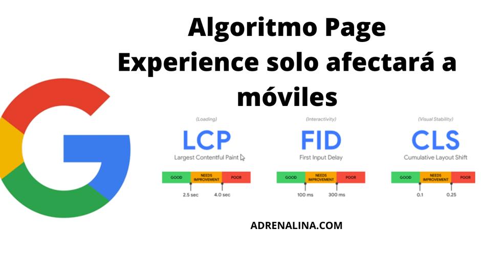 ALGORITMO PAGE EXPERIENCE