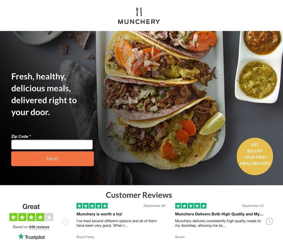 landing pagina restaurante