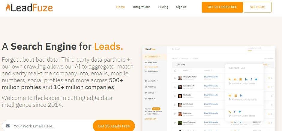 leadfuze leads linkedin