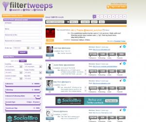 Herramientas Social Media: FilterTweeps