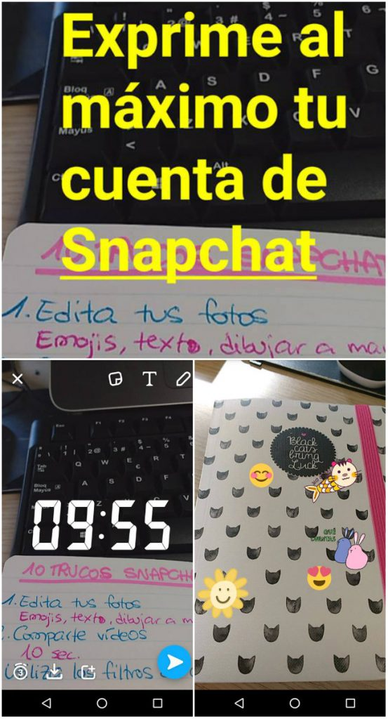 Edita imágenes en Snapchat