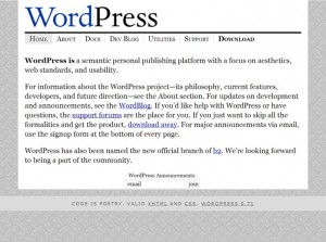 Wordpress 0.71