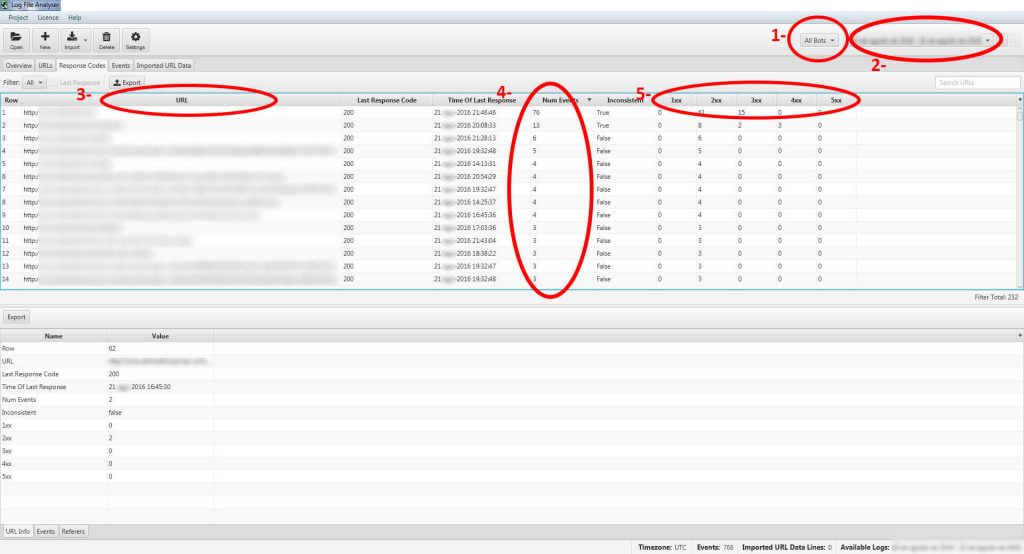 Screamin Frog SEO Log File Analyser 3