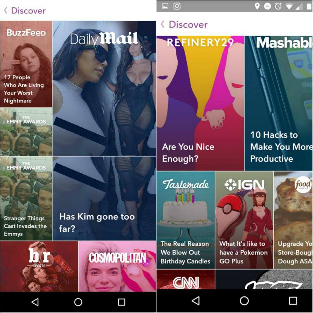Discover en Snapchat