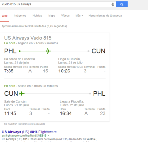 vuelo 815 us airways Buscar con Google